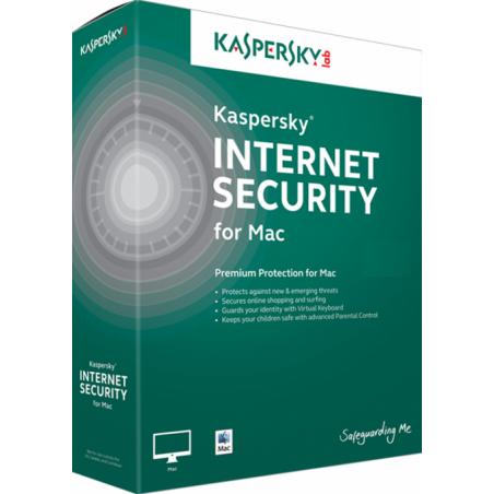 Kaspersky Internet Security for Mac 1-Mac 1 jaar
